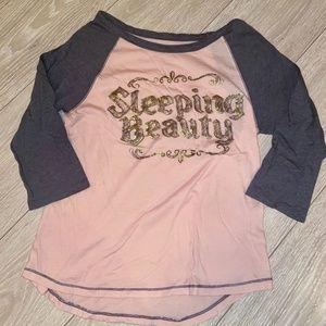 Disney sleeping beauty half sleeve top